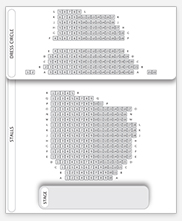 Seating plan for Ambassadors Theatre