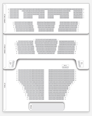 Seating plan for Cambridge Theatre