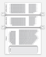 Seating plan for Fortune Theatre