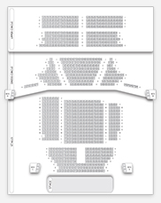 Seating plan for Gielgud Theatre