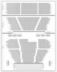 Seating plan for Lyceum Theatre