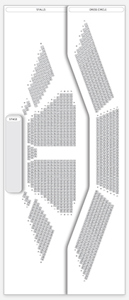 Seating plan for National Theatre, Olivier