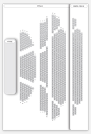 Seating plan for New London Theatre