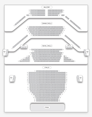Seating plan for Noel Coward Theatre (formerly The Albery)