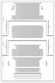 Seating plan for Open Air Theatre, Regent's Park