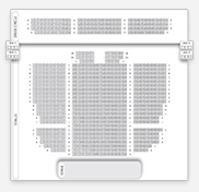 Seating plan for Sadler's Wells: Peacock Theatre